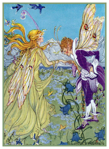 Fairy-Tale The Yellow Fairy by Alice Bolam Preston Counted Cross Stitch Pattern