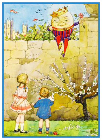 Humpty Dumpty Fairy Tale By  Dorothy M. Wheeler Counted Cross Stitch Pattern