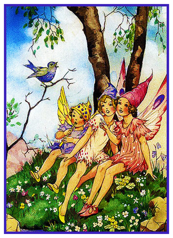 Musical Fairies Fairy-Tale By  Dorothy M. Wheeler Counted Cross Stitch Pattern