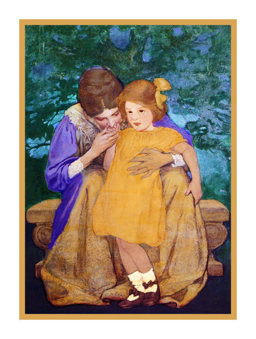 A Mothers Reassurance By Jessie Willcox Smith Counted Cross Stitch or Counted Needlepoint Pattern