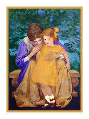 A Mothers Reassurance By Jessie Willcox Smith Counted Cross Stitch or Counted Needlepoint Pattern - Orenco Originals LLC