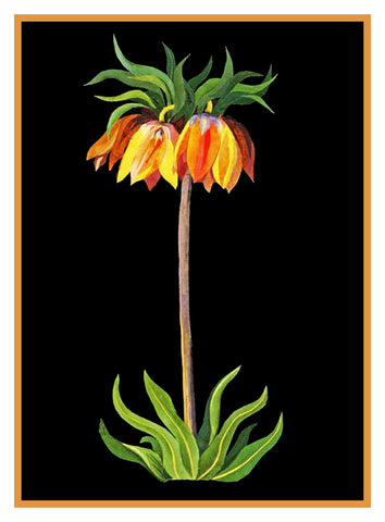 Fritilaria Flower by Mary Delany Counted Cross Stitch or Counted Needlepoint Pattern