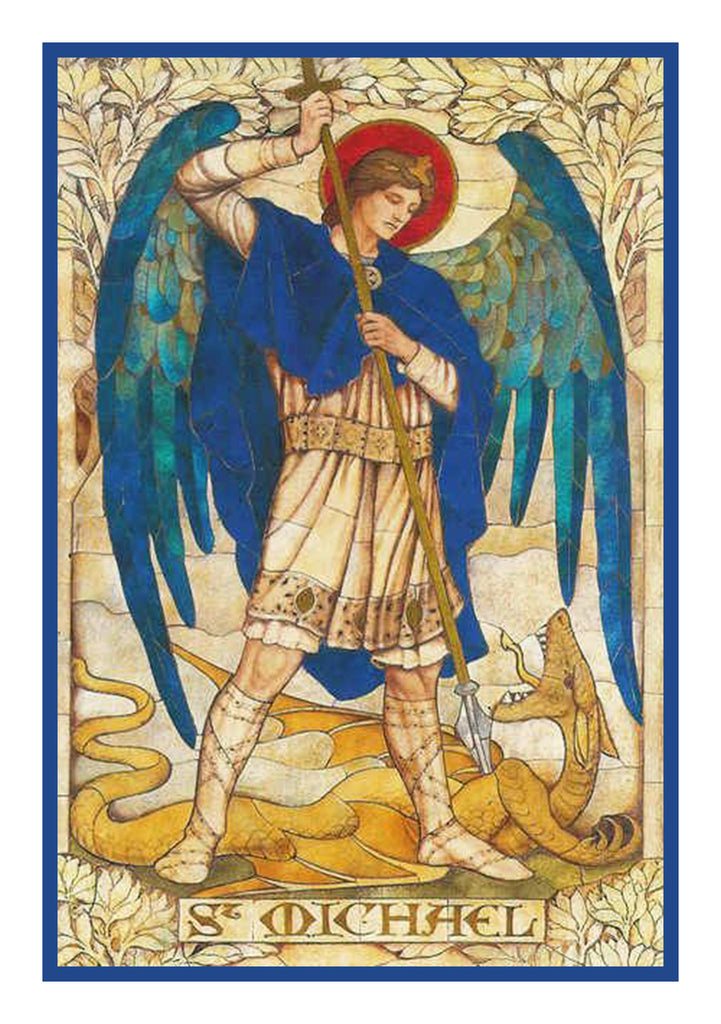 Arch Angel Michael by Powell and Sons  Counted Cross Stitch or Counted Needlepoint Pattern - Orenco Originals LLC