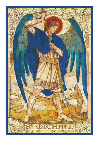Archangel Michael by Powell and Sons Counted Cross Stitch Pattern DIGITAL DOWNLOAD