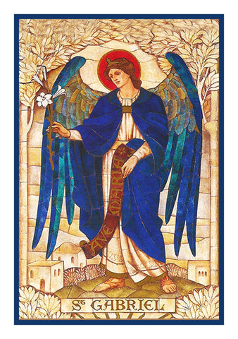 Archangel Gabriel by Powell and Sons Counted Cross Stitch Pattern DIGITAL DOWNLOAD