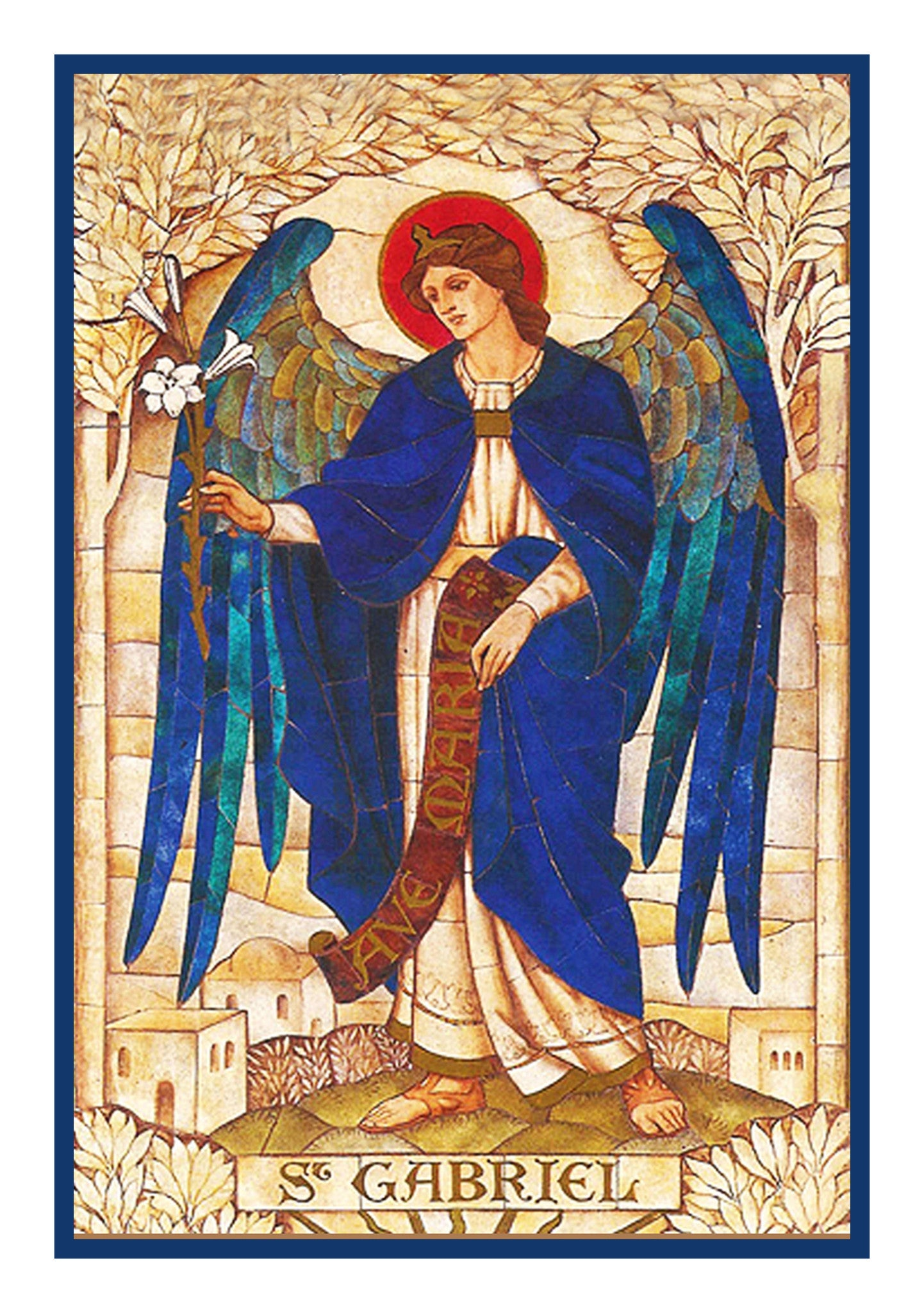 Arch Angel Gabriel by Powell and Sons Counted Cross Stitch or Counted  Needlepoint Pattern