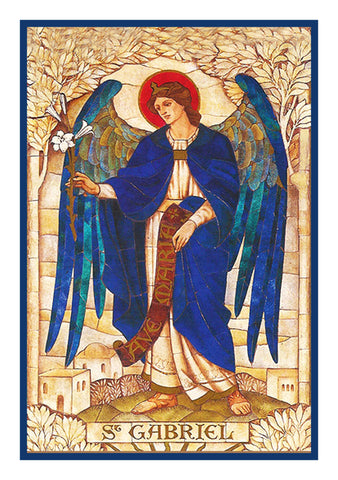 Arch Angel Gabriel by Powell and Sons  Counted Cross Stitch Pattern