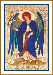Arch Angel Gabriel by Powell and Sons  Counted Cross Stitch  Pattern - Orenco Originals LLC