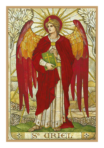 Archangel Uriel by Powell and Sons Counted Cross Stitch Pattern DIGITAL DOWNLOAD