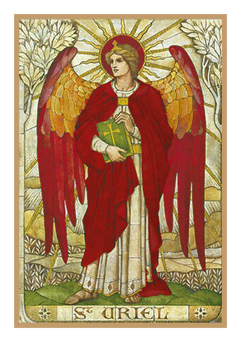 Archangel Uriel by Powell and Sons  Counted Cross Stitch Pattern