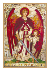Arch Angel Raphael by Powell and Sons  Counted Cross Stitch or Counted Needlepoint Pattern