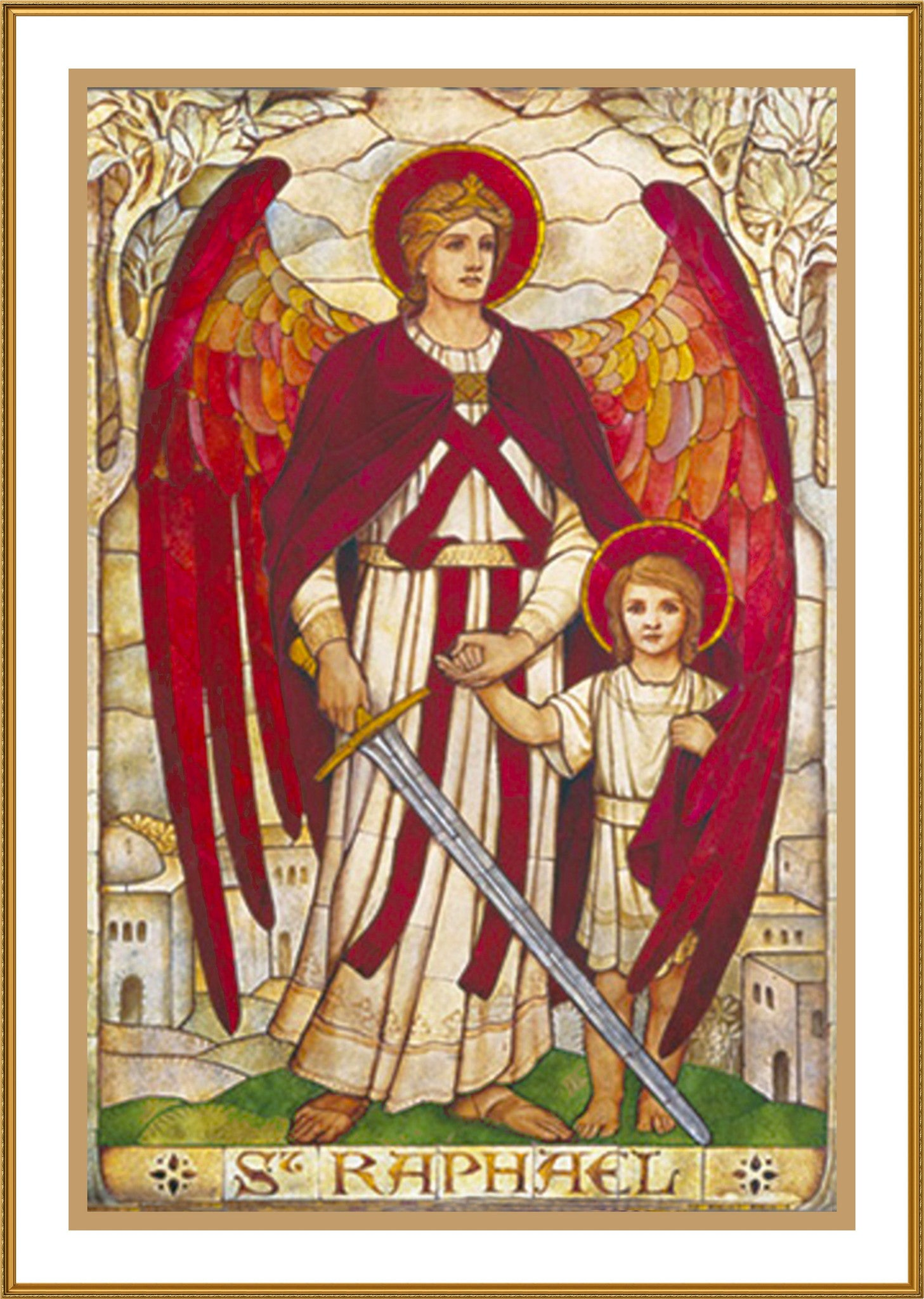 COUNTED X-STITCH CHART GOTHIC ANGEL # 4