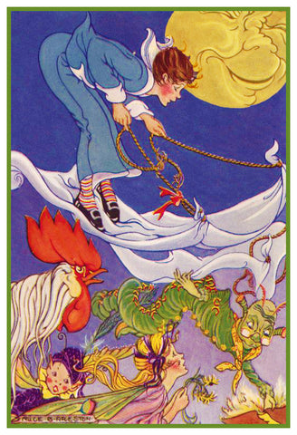 Fairy-Tale Fairy Races by Alice Bolam Preston Counted Cross Stitch Pattern