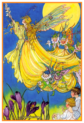 The Yellow Fairy Flying by Alice Bolam Preston Counted Cross Stitch Pattern