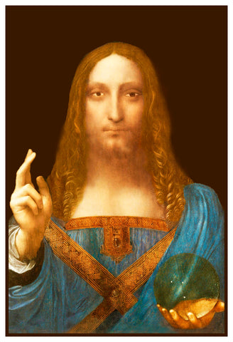 Renaissance Leonardo Davinci's Salvator Mundi Jesus Counted Cross Stitch Pattern