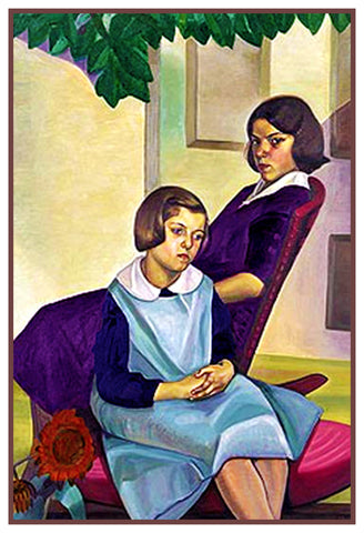 Country Sisters by Canadian Artist Prudence Heward Counted Cross Stitch Pattern