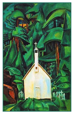 Emily Carr The Indian Church Canada Landscape Counted Cross Stitch or Counted Needlepoint Pattern