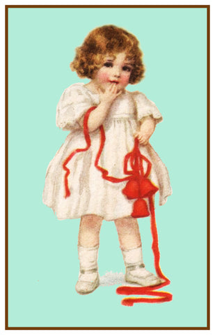 Little Girl Holiday Bow Frances Brundage Christmas Counted Cross Stitch Pattern