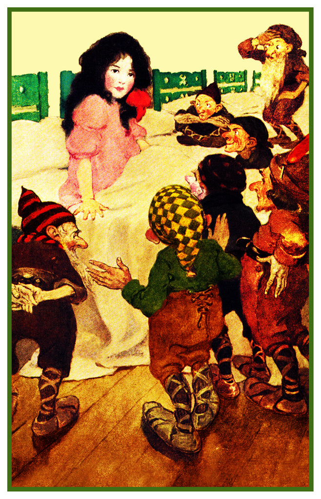 Snow White and The Seven Dwarfs By Jessie Willcox Smith Counted Cross Stitch Pattern