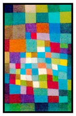 In The Desert by Expressionist Artist Paul Klee Counted Cross Stitch or Counted Needlepoint Pattern