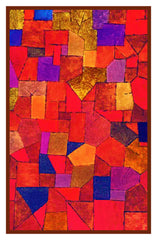 Mountain Village in Autumn by Expressionist Artist Paul Klee Counted Cross Stitch or Counted Needlepoint Pattern