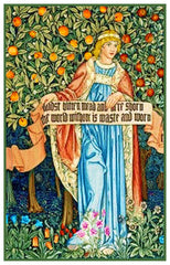 William Morris Summer Medieval Maiden Counted Cross Stitch Pattern