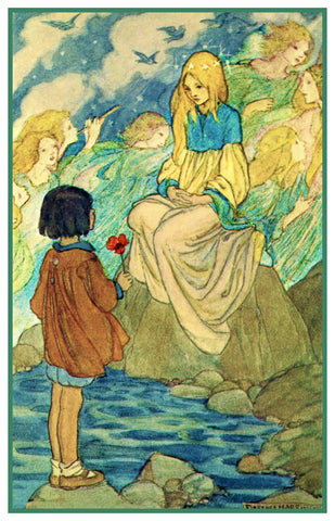 PreRaphaelite Florence Harrison Children Of Night Counted Cross Stitch Pattern
