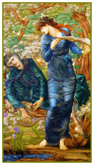 The Beguiling of Merlin by Arts and Crafts Edward Burne-Jones Counted Cross Stitch Pattern