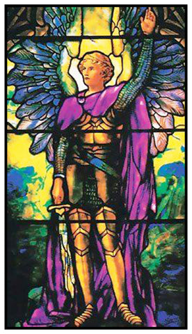 Archangel Michael inspired by Louis Comfort Tiffany  Counted Cross Stitch Pattern