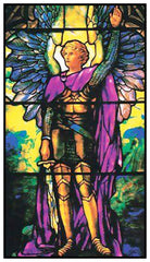 Arch Angel Michael inspired by Louis Comfort Tiffany  Counted Cross Stitch  Pattern - Orenco Originals LLC
