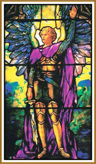 Arch Angel Michael inspired by Louis Comfort Tiffany  Counted Cross Stitch or Counted Needlepoint Pattern - Orenco Originals LLC