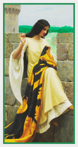 Medieval Stitching The Standard inspired by Edmund Blair Leighton Counted Cross Stitch Pattern