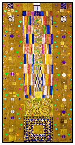 Art Nouveau Gustav Klimt The Stoclet Fries Detail Counted Cross Stitch Pattern