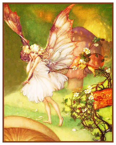 Bramble Caught Fairy-Tale By Florence Mary Anderson Counted Cross Stitch Pattern