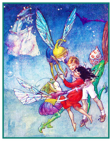 Fairies Pixies Fairy-Tale By Florence Mary Anderson Counted Cross Stitch Pattern