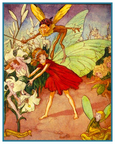 Fairy Dance Fairy-Tale By Florence Mary Anderson Counted Cross Stitch Pattern