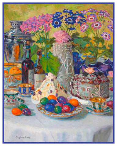 Celebrate On Easter Day By Nikolay Bogdanov-Belsky Counted Cross Stitch Pattern