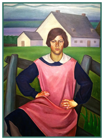 Portrait of A Girl by Canadian Prudence Heward Counted Cross Stitch Pattern