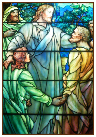 Jesus and His Apostles Detail inspired by Louis Comfort Tiffany  Counted Cross Stitch Pattern
