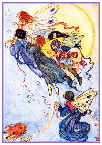 PreRaphaelite Florence Harrison Fairies Moonlight Counted Cross Stitch Pattern