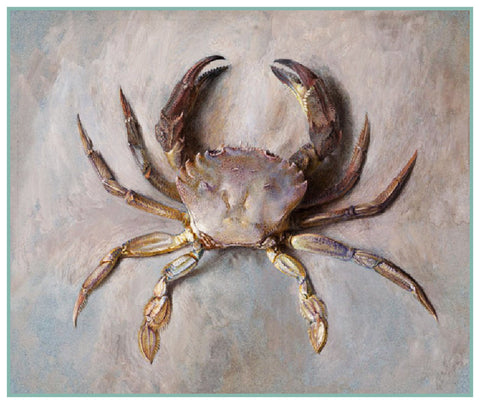 Study of the Velvet Crab by John Ruskin Counted Cross Stitch or Counted Needlepoint Pattern