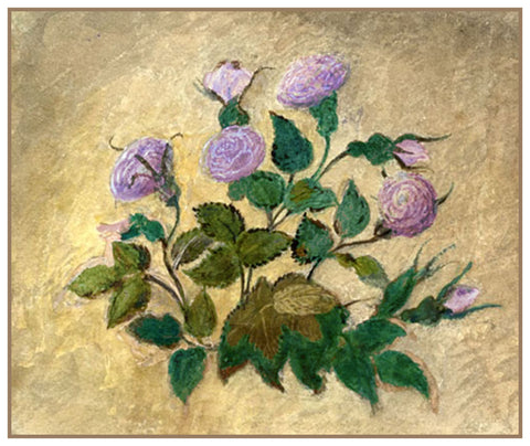 Study of Rose Flowers by John Ruskin Counted Cross Stitch or Counted Needlepoint Pattern