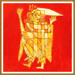 Allegorical Figure by Expressionist Artist Paul Klee Counted Cross Stitch or Counted Needlepoint Pattern