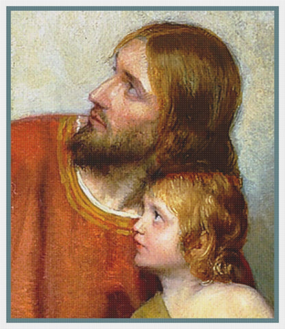 Carl Bloch Jesus Christ Child Detail Counted Cross Stitch Chart  Pattern