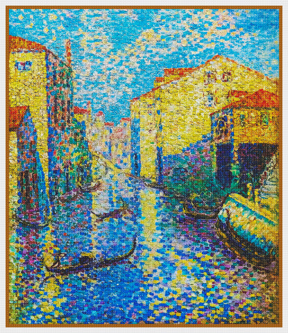 Henri-Edmond Cross The Venice Canals Orenco Originals Counted Cross Stitch Pattern