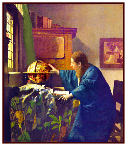 The Astronomer by Johannes Vermeer Counted Cross Stitch Pattern