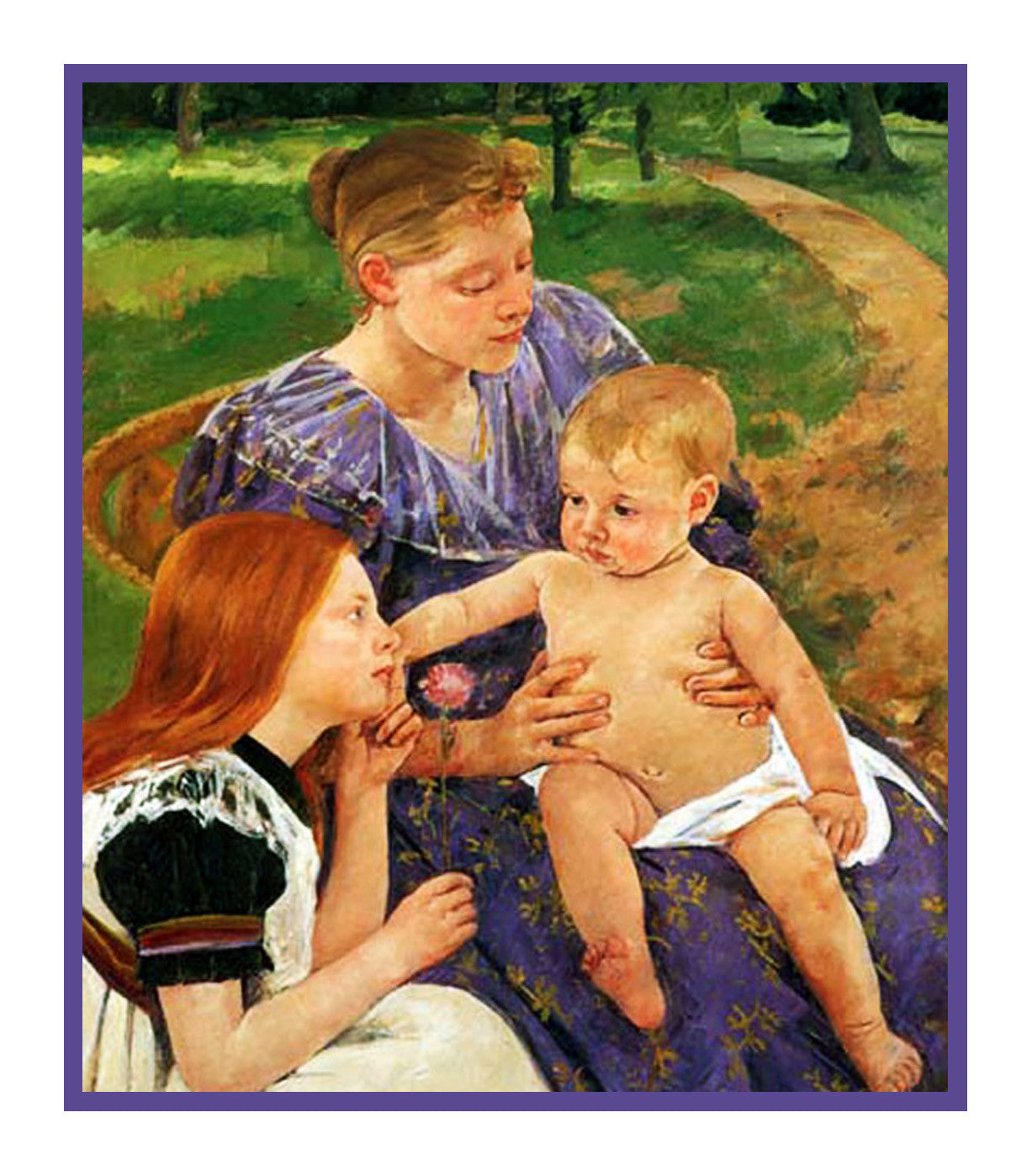 A Family Outing By American Impressionist Artist Mary Cassatt Counted Cross Stitch Or Needlepoint Pattern
