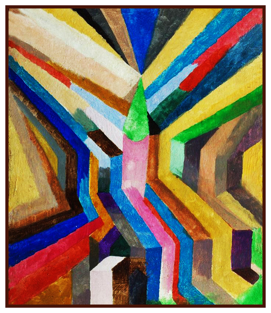 Church Steeple by Expressionist Artist Paul Klee Counted Cross Stitch  Pattern - Orenco Originals LLC