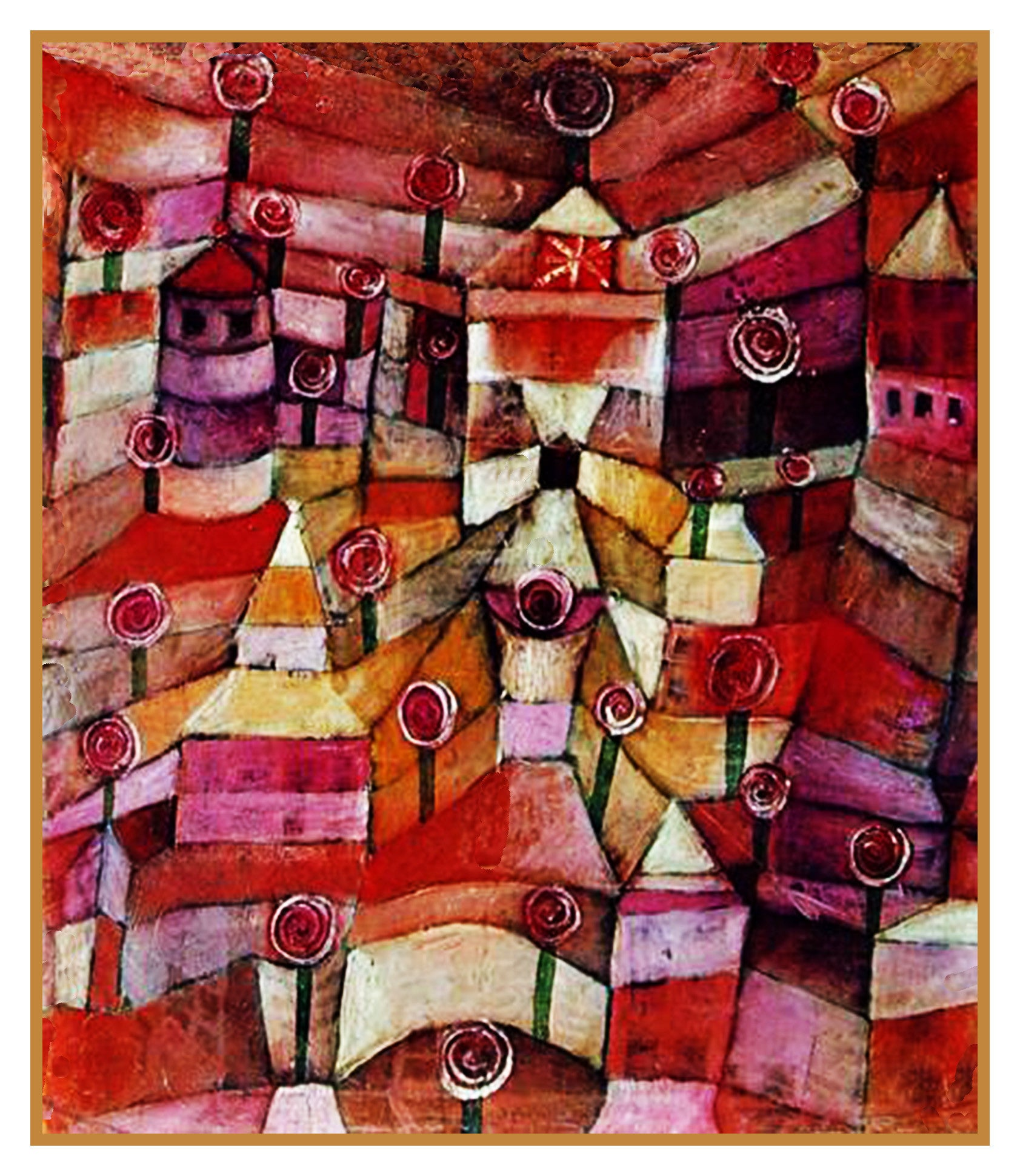 The Rose Garden By Expressionist Artist Paul Klee Counted