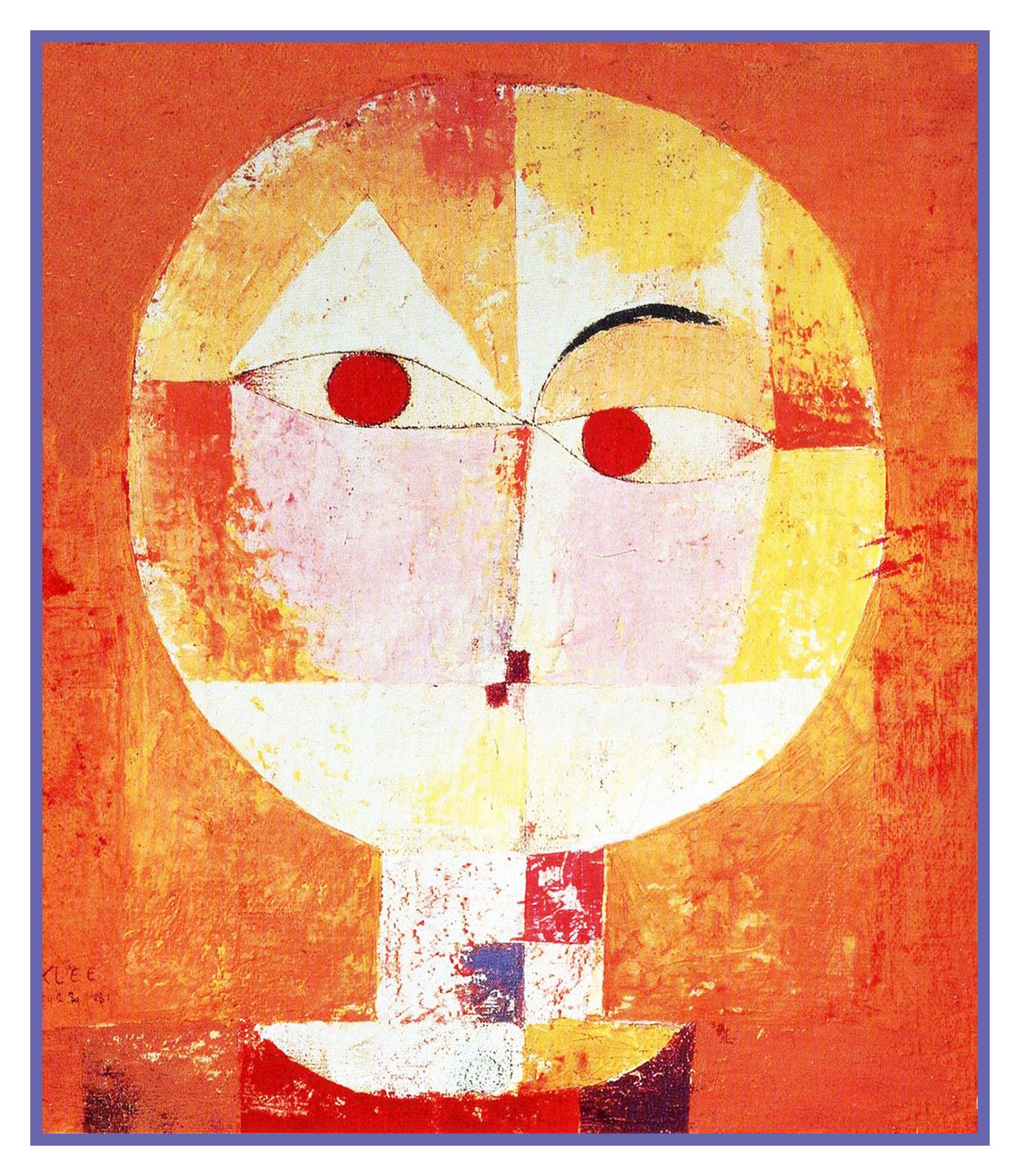 Senecio by Expressionist Artist Paul Klee Counted Cross